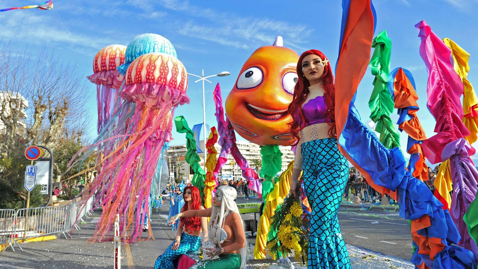 France festivités carnaval char nice