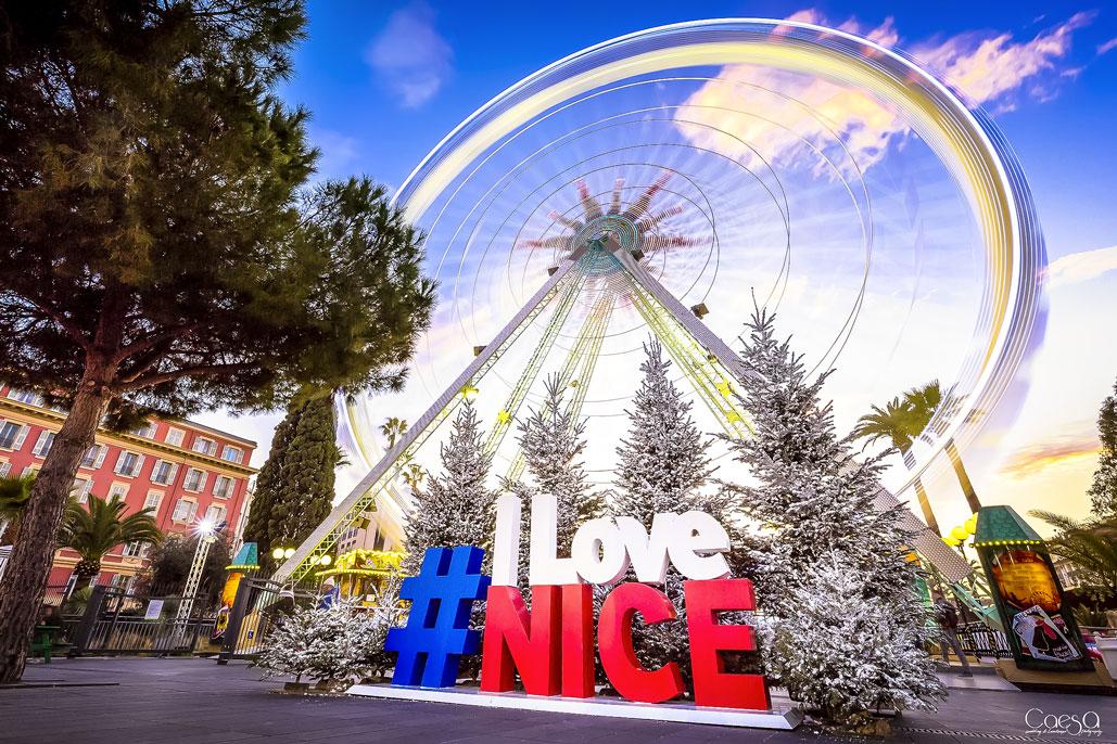 France festivités 3D Lettrage nice #ilovenice _ France Festivités
